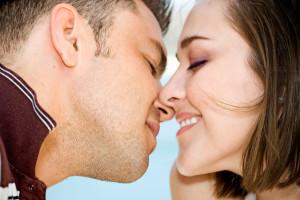 Couple Kissing Lips